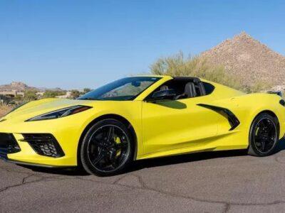 yellowhummer corvette c8 yellow 3